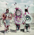 Plains American Indians in ceremonial regalia