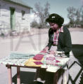 American Indain woman working with crepe paper