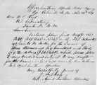 Letter to A.B. Hoyt from Sharp, U.S. Agent Southern Apaches