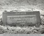Grave marker for Edmund Gibson Ross, photography by Walter Haussaman