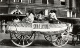 Native American Parade - wagon with members of the San Ildefonso Pueblo