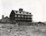 Building being erected in Las Vegas, New Mexico, ca. 1890.