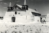 The Church and Plaza at Isleta Pueblo