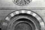 Architectural detail of the Cathedral of San Francisco de Asis, Santa Fe, N.M.