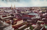 Bird's eye view of the city of Guadalajara, Jalisco, Mexico