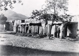 The ruins of the officers' quarters of Fort Bliss, Texas