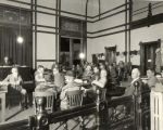 Courtroom picture at the trial of Carl C. Magee for the murder of John B. Lasseter
