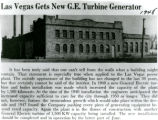 Las Vegas Gets New G.E. Turbine Generator