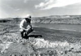 United Nuclear Corp. administrator inspects contaminated riverbed of the Rio Puerco (N.M.)
