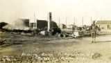 Smoking Ruins of Columbus, N.M. Raided by Pancho Villa