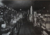 Interior of Huning Mercantile with store employees, ca. 1910.