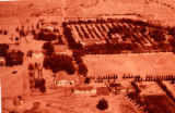 Aerial photo of Los Lunas Hospital and Training School.