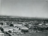 View of downtown Albuquerque with Second St. in foreground and Bridge St. in center/background,...