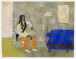 Untitled (Man with Blue Sofa)