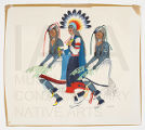 Untitled (Three Traditional Pueblo Dancers)