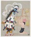 Zuni Shalako Dancer and Mudhead
