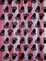 Untitled (Bear Paws on Stripes)