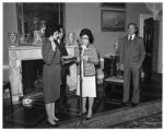 Mari-Luci Jaramillo taking the oath of office, as United States Ambassador to Honduras ,at the...