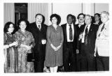 Ambassador Mari-Luci Jaramillo with guests and members of the Preservation Jazz Hall Band