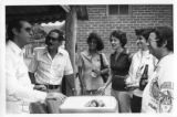 Ambassador Mari-Luci Jaramillo at a barbeque held by the Ambassador from Argentina