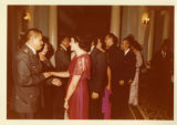 President Melgar Castro receives Ambassador Mari-Luci Jaramillo in a reception receiving line...