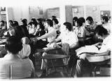 A meeting of Honduran scientists in a classroom in Santa Barbara, Honduras