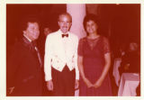 Ambassador Mari-Luci Jaramillo meets the  Duke of Alburquerque at a reception for the Duke in...