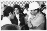 President of Honduras, General Melgar Castro listens to palm oil product worker in  Bajo Aguán,...