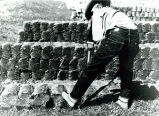 Man working with Bricks