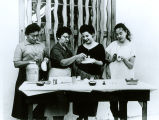 Four woman with Ceramics