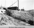 Elephant Butte Dam Construction - from mid-slope