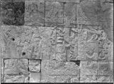 Relief sculpture in lower chamber, House of the Tigers Chichén Itzá, Mexico