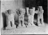 Front view of figures in sanctuary, House of the Tigers, Chichén Itzá, Mexico