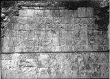 Sculptured panel below House of the Tigers, Chichén Itzá, Mexico