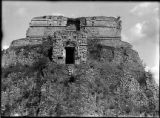 West facade, House of the Magician, Uxmal, Mexico