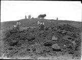 Leveling ground to begin construction of Painted Desert Exhibit, 1915 San Diego Exposition,...