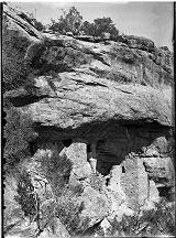Ruin to East of Cliff Palace, Cliff Canyon, Mesa Verde National Park, Colorado