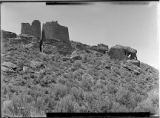 Cave House, Square Tower and Round End Tower, Ruin Canyon,  McElmo Canyon, Colorado