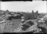 Small square tower on Southwest side and ruin on spur across canyon, Ruin Canyon, McElmo Canyon,...