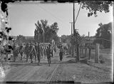 Soldiers going to camp, Las Vegas, New Mexico