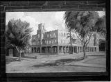 "Copy of drawing to remodel Palace Hotel in ""Santa Fe"" style, New Mexico"