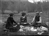 Picnic lunch in upper Santa Fe Canyon, New Mexico