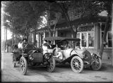 Automobile picnic trip, Cerrillos, New Mexico