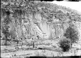 North cliff above ranger's station, Rito de los Frijoles, New Mexico