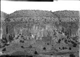North cliff east of ranger station, Rito de los Frijoles, New Mexico