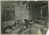 "Unidentified Pueblo man in the ""Language Room"" where linguist J.P. Harrington worked,..."