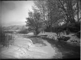 """Snow Scene - Boyle's Bridge"", Santa Fe River, Santa Fe, New Mexico"