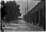 Flooding on Palace Avenue in front of the Palace of the Governors, Santa Fe, New Mexico