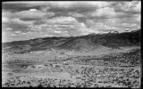 View showing Cerro Gordo Road, Upper Canyon Road, Camino Cabra and Apodaca Hill, Santa Fe, New...
