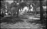 View of Plaza facing Palace of the Governors, Santa Fe, New Mexico